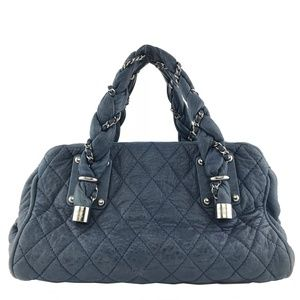 Chanel Quilted Lambskin Lady Braid Satchel Bag